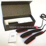 Le balai droit de cheveu de Nasv de redresseur de cheveu d'anion d'original de 100% Anti-S'ébouillantent le balai statique de redresseur de cheveu avec l'écran LCD