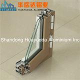 Profil en aluminium d'extrusion d'électrophorèse pour le guichet de glissement