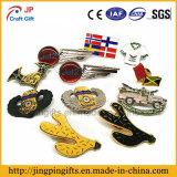 공급 연약한 사기질을%s 가진 주문 로고 금속 접어젖힌 옷깃 Pin 기장