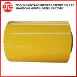 0.13-0.6mm Prepainted PPGI PPGL bobinas de acero galvanizado recubierto de color