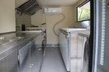 Remorques mobiles de vente de rue avec la remorque de cuisine de barre de remorquage fabriquée en Chine