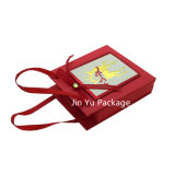 Rectángulo de empaquetado del regalo del papel de Feliz Navidad para la tarjeta del regalo