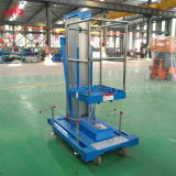 100kg Platform van de Lift van het Werk van het Aluminium van de Mast van de Verkoop van de Fabriek van de hoogste Kwaliteit het Directe Enige Kleine Hydraulische Lucht van de Leverancier van China