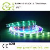 Preço por grosso de fábrica em Cores RGB 12V DCtira RGB LED programáveis com marcação RoHS Aprovação