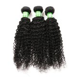 cabelo 100% peruano do Virgin natural da cor 7A que tece Curly Kinky
