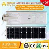 160 lúmenes/w productos de exterior Lámpara de jardín integrado Todos-en-Uno LED de iluminación de calle la luz solar con el control más remotas (SSL-5W-120W)