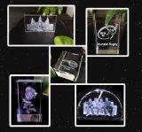 3W Tabla Cristal 3D interior de grabado láser verde Máquina de la marca