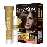 De Kleurstof van het Haar van Colorshine van de Zorg van het Haar van Tazol (Middelgrote Blonde) (50ml+50ml)