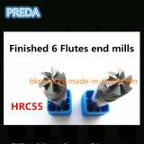 HRC55 탄화물 6 플루트 정밀도 공구 공장