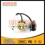 Mineros recargables impermeables linterna de casco, faro de la batería del Li-ion del rango largo
