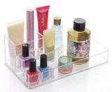 Affichage transparent en acrylique de vin du caisson de porte-lunettes de cosmétique