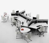 Poste de travail commercial de vague de bureau de Vari de bureau de cloison moderne de conception (SZ-WS542)