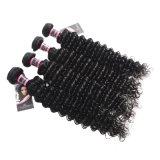 Оптовая торговля выходцев из женщин волосы глубокую волны бразильский волосы вьются связки 1PC Реми волос 10-28 человеческого волоса связки не пролить без спутанных проводов