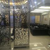 Écran d'acier inoxydable de fini de couleur de satin ou de miroir de partition de pièce d'atterrissage d'écran de diviseur de salle de séjour de villa