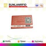 Cartes de visite professionnelle de visite en plastique des cartes de visite professionnelle de visite NFC avec 4/4 impression