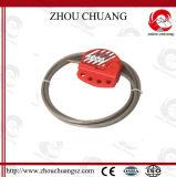 El bloqueo de cable de tipo de agarre con candado de seguridad fácilmente ligeramente
