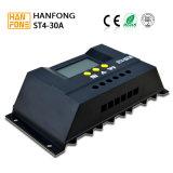 Регулятор заряжателя сбывания 30A MPPT горячий солнечный с LCD (ST4-30)