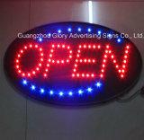 Muestra abierta del LED / muestra abierta del café / muestra de la luz del LED