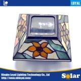 충성하는 새로운 디자인 ISO9001에 의하여 특허가 주어지는 제품 Tiffany 유리제 포스트 모자 장식적인 태양 LED 빛