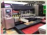 홈을 파기 인쇄하는 완전히 자동적인 4개의 색깔 두꺼운 종이는 절단기를 정지한다