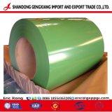 Manufacture de couleur verte de Sortie de l'acier prépeint galvanisé recouvert de bobine