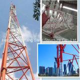 Comunicación de la autosuficiente galvanizado torre tubular de acero