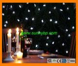 LED amarillo de Navidad en el exterior de la luz solar