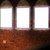 El soporte al por mayor A4 iluminó el marco de acrílico, visualización publicitaria de acrílico