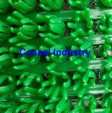 Antideslizamiento de PVC de plástico rojo, verde y la alfombrilla de malla