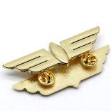 Distintivo duro molle dell'emblema dello spazio in bianco dell'oro di nome dello smalto di marchio 3D di modo di promozione del metallo del risvolto di Pin della polizia dell'esercito dell'automobile del tasto militare su ordinazione dello stagno per il regalo promozionale nessun MOQ