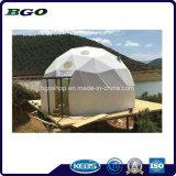 Imperméable en PVC blanc clair tente dôme géodésique de luxe