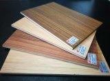 Placa de laminados comerciais de materiais de construção filme marinhos HPL enfrentados compensado de madeira composto