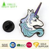 Échantillon gratuit sur mesure Composante personnalisée Glitter métallique émail Animal mignon drôle d'épinglette Unicorn pour amoureux