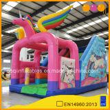 Nouvelle conception de l'Amusement Park Unicorn Inflatable Bouncer diapositive (AQ01857)