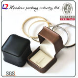Boîte-cadeau en cuir d'emballage de boucle de bijou de cadre de mémoire de bijou de velours (Ys309)