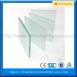La partición de cristal de la sala de estar, claro de 3-19m m, ácido helado teñido las particiones decorativas grabó al agua fuerte el vidrio/no precio del vidrio de la huella digital