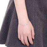 Pendente d'acciaio romantico di disegno di lettera del braccialetto dai 925 Sterling per i monili caldi di vendita delle donne