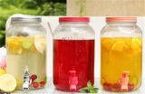 Tarro de cristal del almacenaje/tarro de masón con el golpecito para la aplicación de la cocina