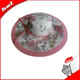 Sombrero de papel del disco blando de las mujeres del sombrero de Sun de la paja