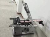 Machine à étiquettes semi-automatique de bouteille ronde d'usine