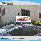 Doppio segno di pubblicità superiore parteggiato del video dell'azienda di trasformazione P5 del tassì di LED tassì sincrono della visualizzazione/LED