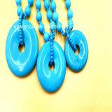 Geoptimaliseerd Verwerkend de Turkooise Halsband van de Parel met Tegenhanger Donuts