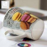 Porzellan-Milch-Becher der Form-11oz mit eigenem Farben-Drucken