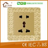 2 Gang 1 Way Wall Switch com Neon
