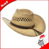 Chapéu de palha do Raffia do vaqueiro do respiradouro