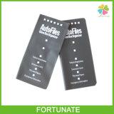 Черный держатель пасспорта кожи крышки для карточки