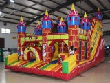 Château gonflable en plein air pour les enfants avec toboggan Combo de saut