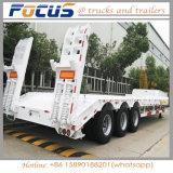굴착기 수송을%s 2/3/4대의 반 차축 낮은 침대 로더 트럭 트레일러