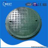 tampas de câmara de visita redondas do polímero de 700mm BMC com punho