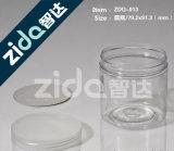 Опарник конфеты ясного цилиндра качества еды пластичный с алюминиевой крышкой для подарка